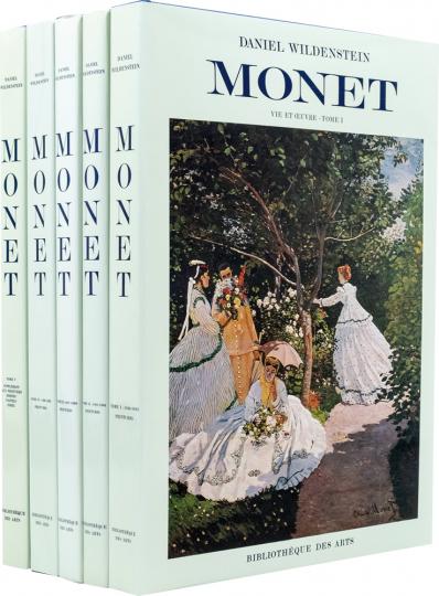 Claude Monet. Biographie und Catalogue Raisonné. 5 Bände.