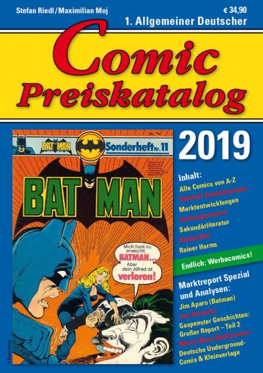 Comic Preiskatalog 2019.