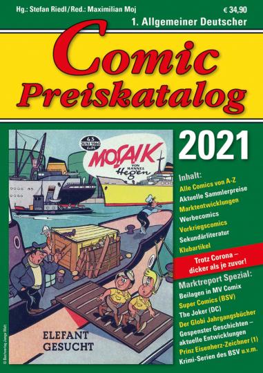 Comic Preiskatalog 2021 S.