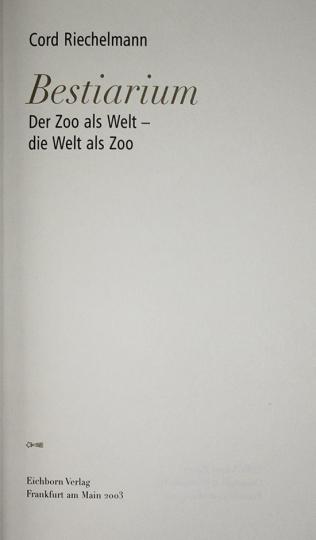 Cord Riechelmann. Bestiarium.