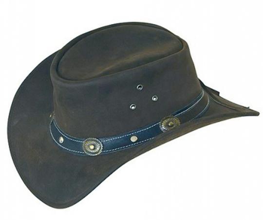 Cowboyhut aus Echtleder, Gr. XL.