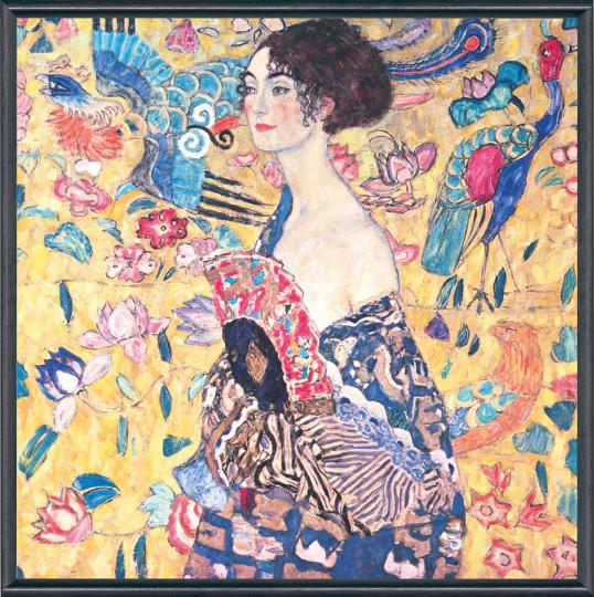 Dame mit Fächer. Gustav Klimt (1862-1918).