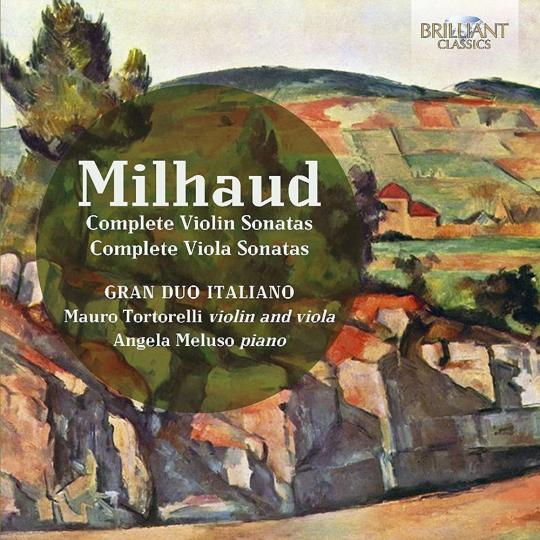 Darius Milhaud. Sonaten für Violine & Klavier Nr.1 & 2. 2 CDs.