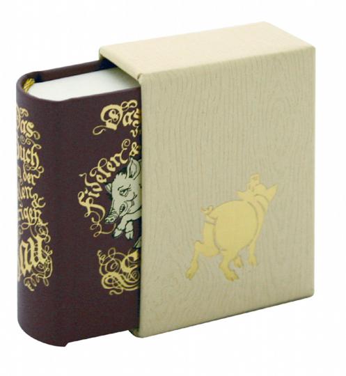Das Buch von der fidelen & traurigen Sau - Leder-Mini-Ausgabe