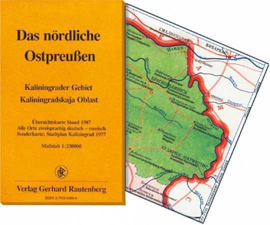 Das nördliche Ostpreußen - Landkarte Kaliningrader Gebiet