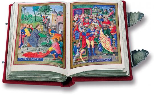 Das Stundenbuch der Sforza. Vorzugsausgabe. Faksimile und Kommentarband. Limitierte und nummerierte Auflage.