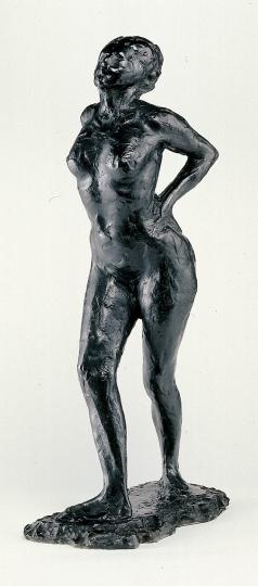 Degas. Tänzerin in Ruhestellung.