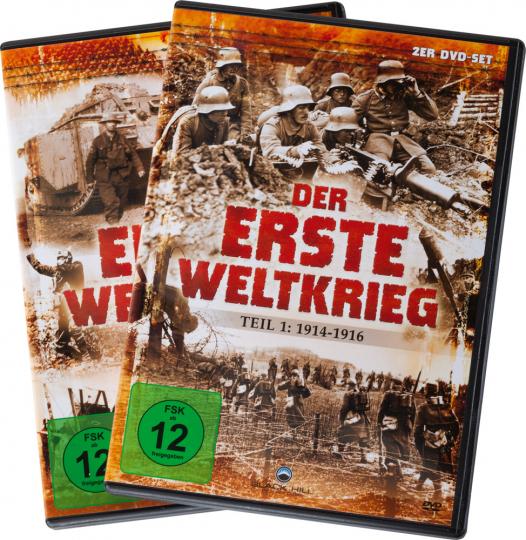 Der Erste Weltkrieg. Teil 1: 1914-16. Teil 2: 1917-1918. 4 DVDs.