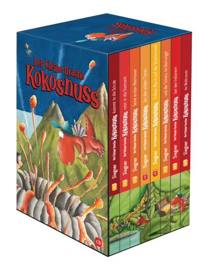Der kleine Drache Kokosnuss. 8 Bände im Geschenkschuber.
