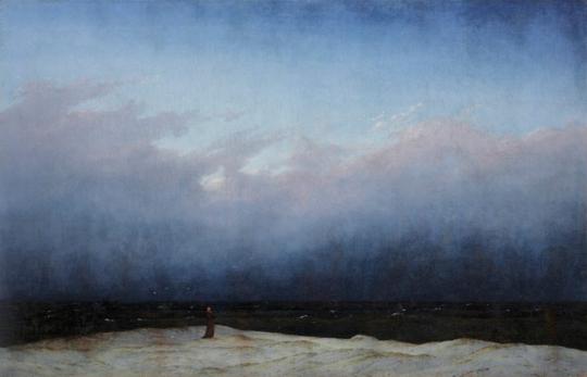 Der Mönch am Meer. Caspar David Friedrich (1774-1840).
