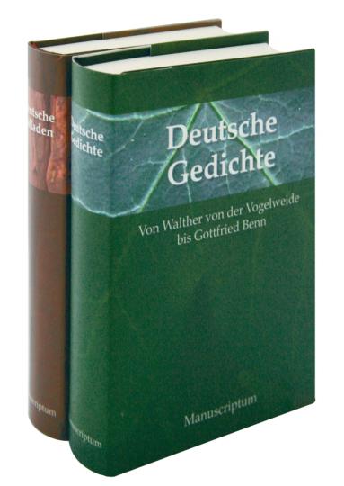Deutsche Balladen / Deutsche Gedichte 2 Bände