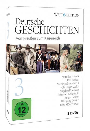 Deutsche Geschichten 3: Von Preussen zum Kaiserreich. 8 DVDs