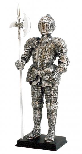 Deutscher Ritter mit Hellebarde