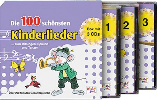 Die 100 schönsten Kinderlieder. 3 CD-Box.