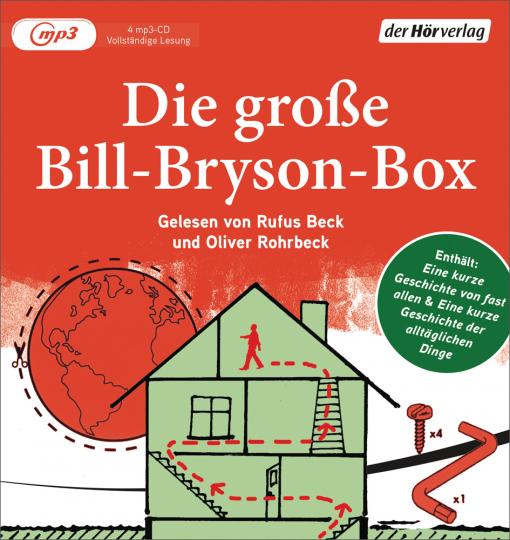 Die große Bill-Bryson-Box. Eine kurze Geschichte von fast allem, eine kurze Geschichte der alltäglichen Dinge. 4 mp3-CDs.