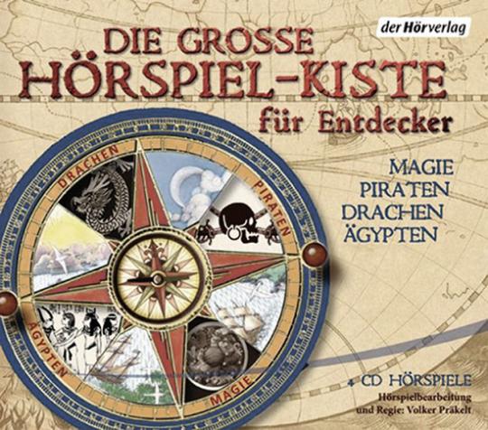 Die große Hörspiel-Kiste für Entdecker. Drachen, Magie, Ägypten, Piraten. 4 CDs.