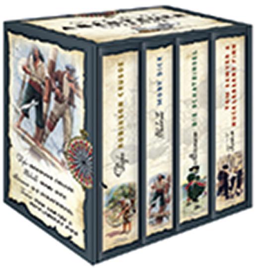 Die großen Klassiker der Abenteuer-Literatur. 4 Bände.
