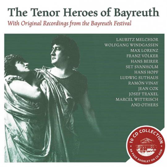 Die Heldentenöre von Bayreuth. 10 CD-Set.