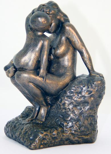 Rodin-Skulptur Die junge Mutter.