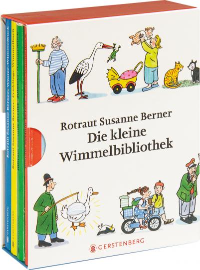 Die kleine Wimmelbibliothek. 4 Bände im Schuber.