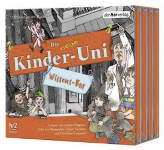 Die neue Kinder-Uni-Wissens-Box.