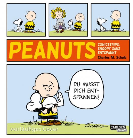 Die Peanuts Tagesstrips 1961-1965. Snoopy ganz entspannt.
