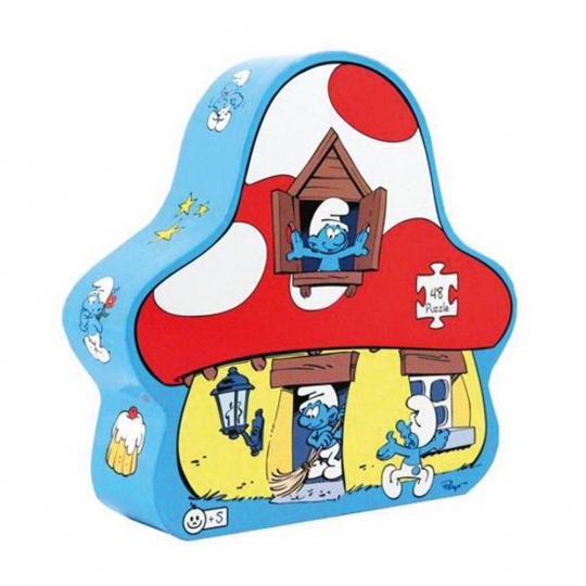 Die Schlümpfe. Schlumpfhaus Puzzle.