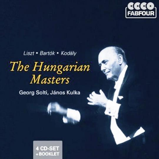Die ungarischen Meister. Liszt, Bartók, Kodály. 4 CD Set.
