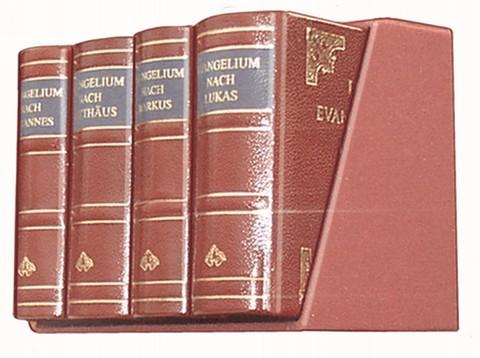Die vier Evangelien - Leder-Mini-Ausgabe in Schuber.