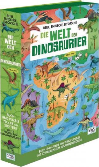 Die Welt der Dinosaurier. Buch. Puzzle. Figuren.