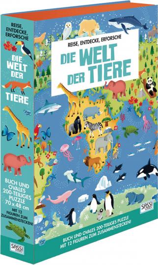 Die Welt der Tiere. Buch. Puzzle. Figuren.