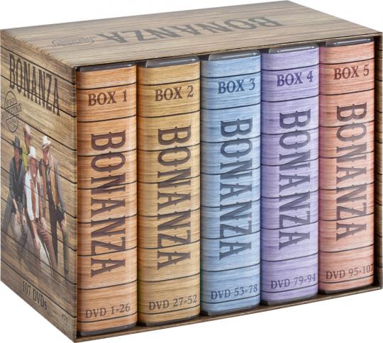 Bonanza. Komplettbox. 107 DVDs.