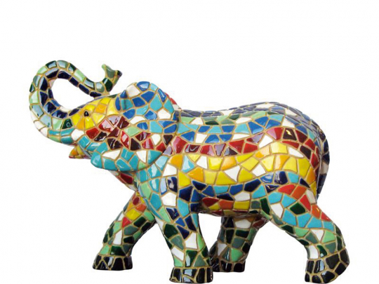 Elefant aus Mosaik.
