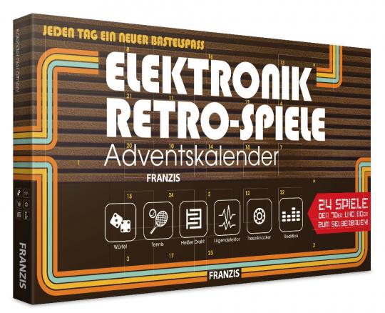 Elektronik-Retro-Spiele-Adventskalender.
