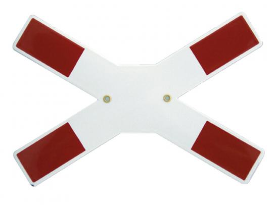 Emaille-Schild Andreaskreuz