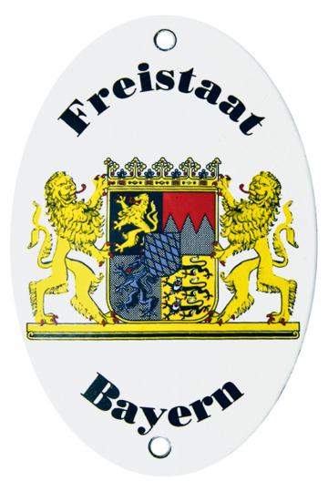 Emailleschild Länderwappen Freistaat Bayern.