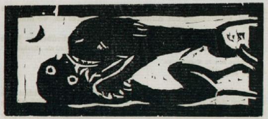 Emil Nolde. Kämpfende Tiere.