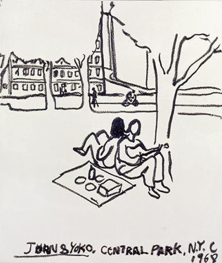 Eran Shakine Vorzugsausgabe Nr. 1 »John and Yoko, Central Park Sunday Morning, 1968«.