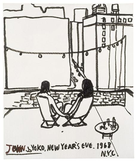 Eran Shakine Vorzugsausgabe Nr. 5 »John and Yoko, New Year's Eve, NYC 1968«.