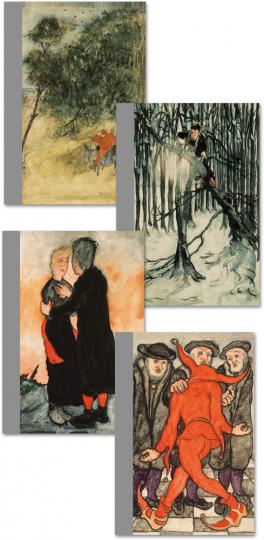 Erich Klahn. Ulenspiegel (1901-1978). Ausgabe in vier Bänden mit 1312 Aquarellen.