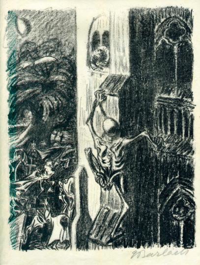 Ernst Barlach. Der Totentanz III / Verfolger Tod.
