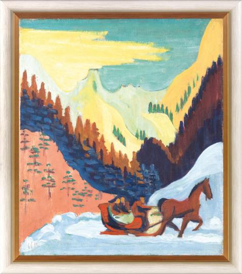 Ernst Ludwig Kirchner (1880 - 1938). Schlittenfahrt im Schnee, 1927/29.