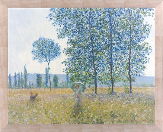 Felder im Frühling. Claude Monet (1840-1926).