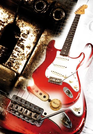Fender Stratocaster 1963. Kunstdruck.