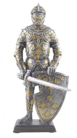 Figur Ritter des Heiligen Landes mit Schild und Schwert