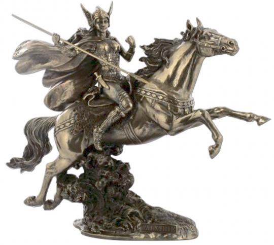 Figur Walküre auf Pferd