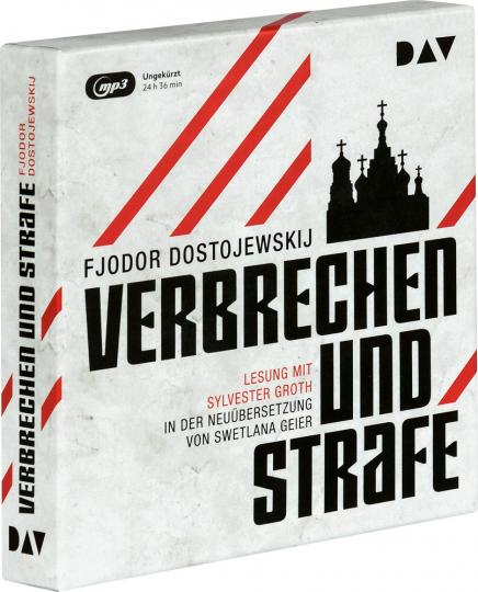 Fjodor Dostojewskij. Verbrechen und Strafe. 3 mp3-CDs.