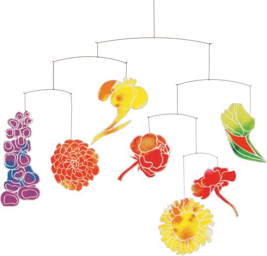 Flowers-Mobile, inspiriert von Emil Nolde.