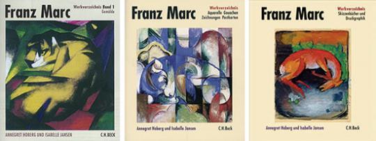 Franz Marc. Werkverzeichnis komplett Band 1 bis 3.