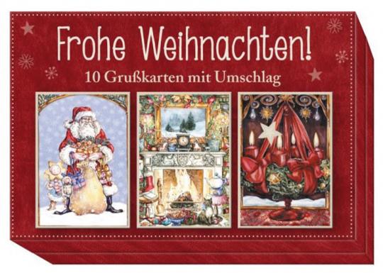 Frohe Weihnachten! 10 Grußkarten mit Umschlag.